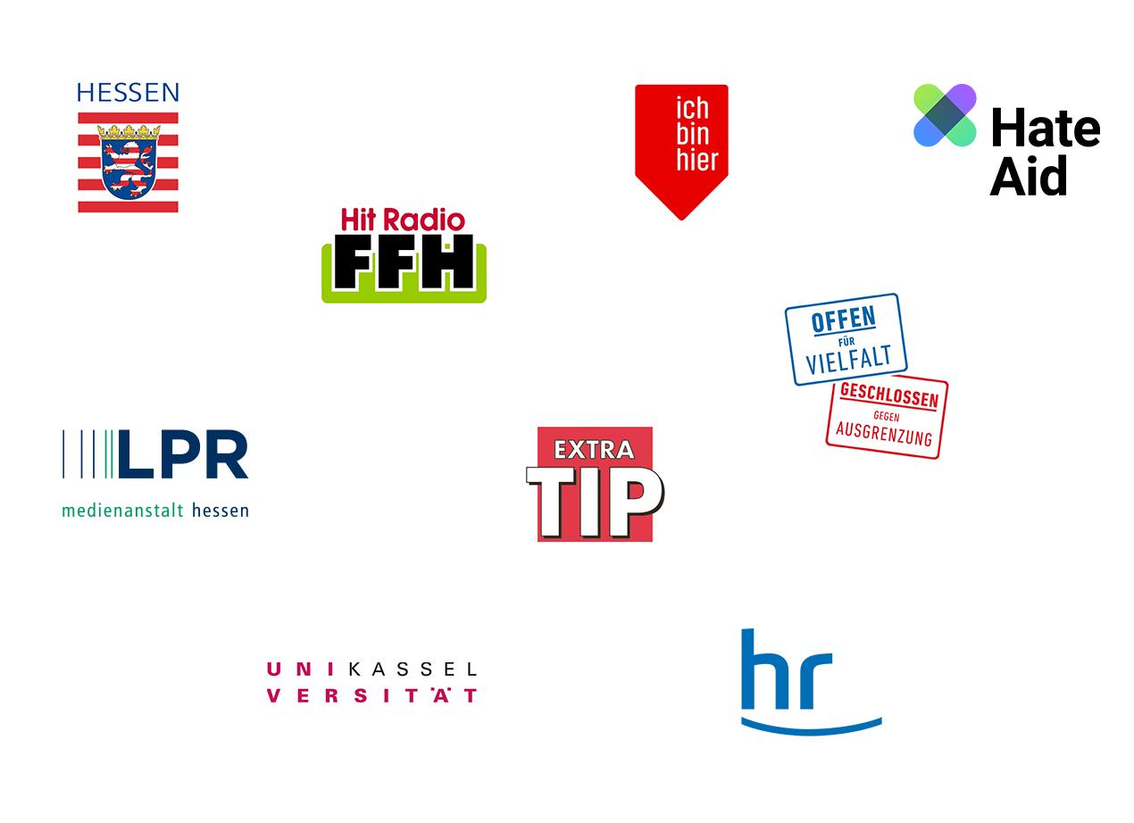 Logos Kooperationspartner KeineMachtdemHass - #Hessen gegen Hetze